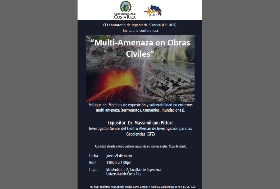 Conferencia: Multi-amenaza en obras civiles